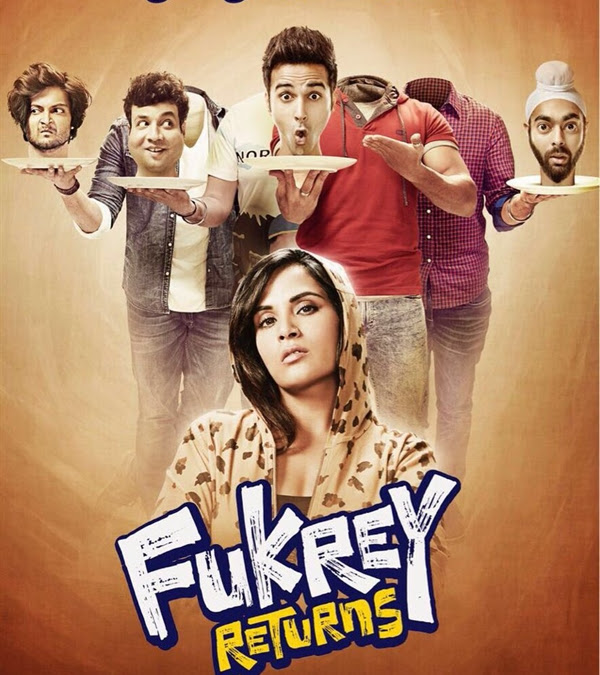 Poster Of Bollywood Movie Fukrey Returns 2017 300MB Pdvd Full Hindi Movie