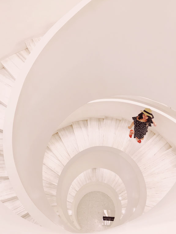 most instagrammable places in NYC barneys spiral staircase