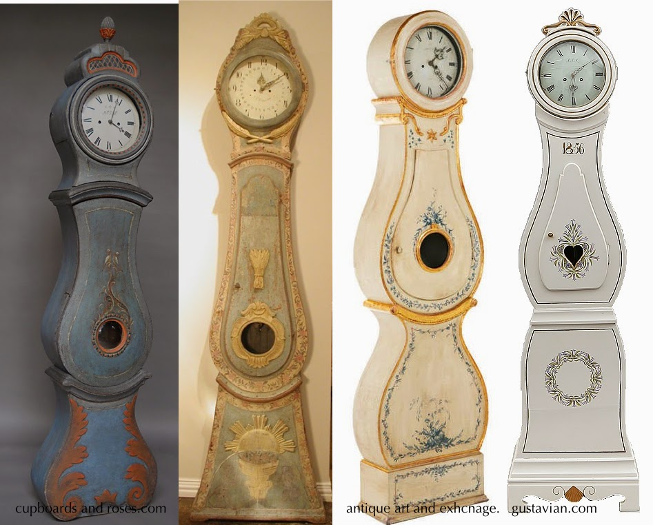 Beautiful Antique Swedish Mora Clocks