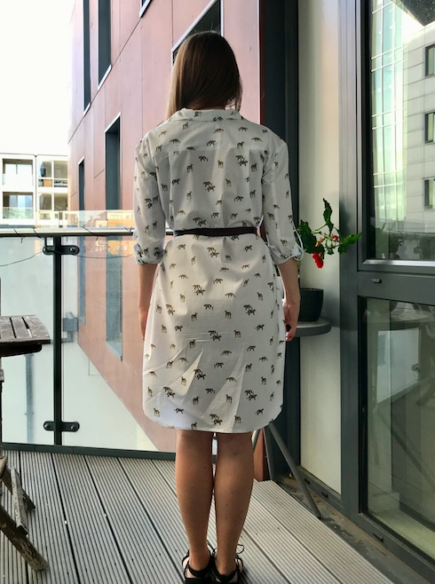 Diary of a Chain Stitcher: Hot Pattern 1237 Shirtdress in Mini Big Cat Cotton Shirting from The Fabric Store