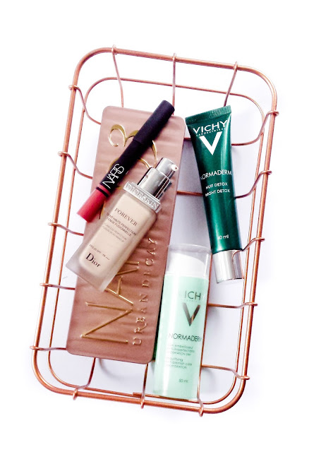 top five of the month, vichy normaderm review, dior forever review, nars rikugien review