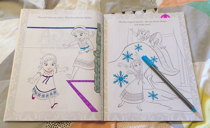 frozen colouring book