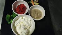 Yogurt, ginger garlic paste red chilli paste for Tandoori Pomfret Recipe
