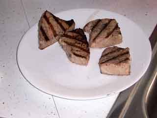 Tuna grilled