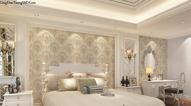 Mẫu giấy dán tường trang trí cho không gian phòng ngủ đẹp
