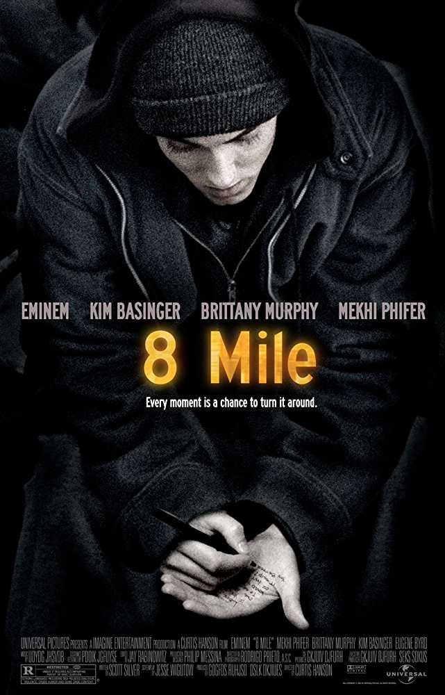 Poster 8 Mile 2002 Full Movie Dual Audio Hindi Free Download 300Mb