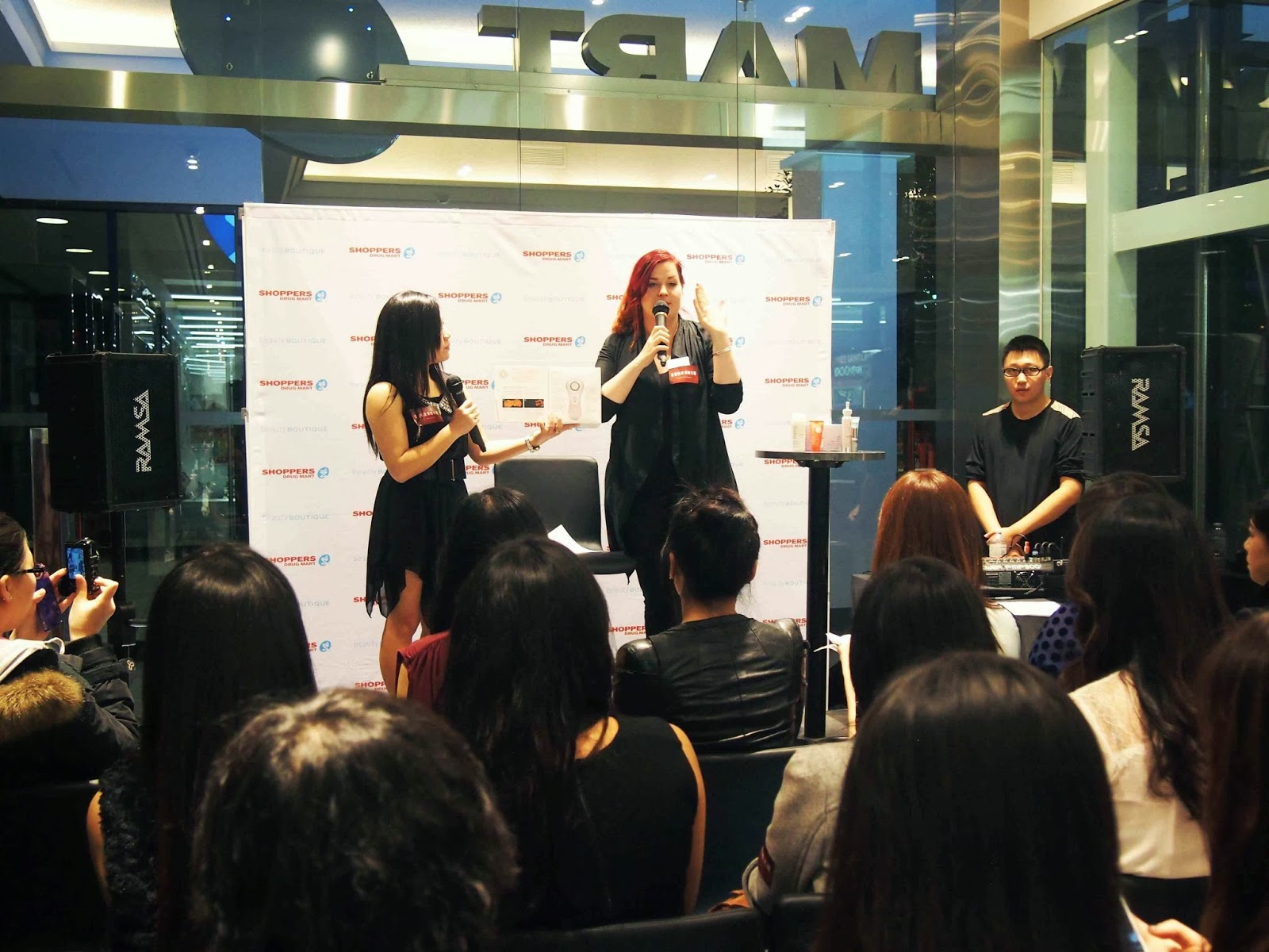 Huang Of A1 Chinese Radio Mc The Evening Kicked Off Event And Was Shortly Joined By Two Beauty Advisors From Pers Mart Sarah Loida