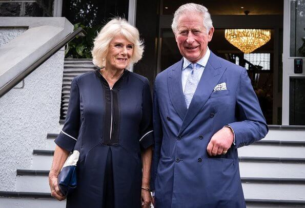 The Prince of Wales and The Duchess of Cornwall attended a reception hosted by the Governor-General at Government House