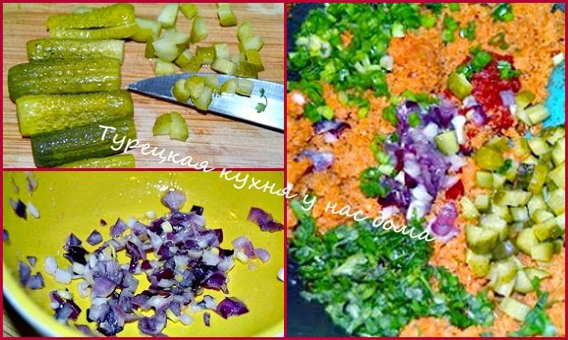 Цветная капуста с солеными огурцами
