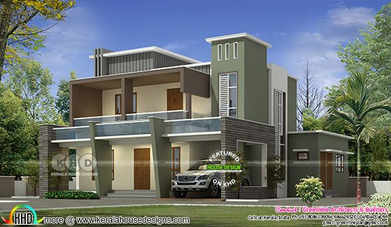 Contemporary model 2242 square feet home
