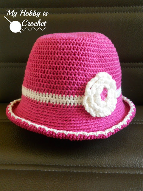 Toddler Cotton Sun Hat  - Free Crochet  Pattern with Tutorial