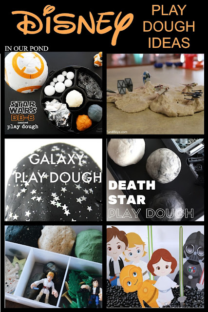 Easy and Magical Disney STAR WARS Play Dough Ideas // In Our Pond // Star Wars Week // May the Fourth // disney // playdoh // busy box // quiet time // quiet play // play dough kit