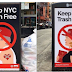 NYC Street Artist Attacks Trump Supporters, Christians and Red Sox Fans With #KeepNYCTrashFree Poster Campaign