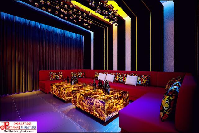 Bàn ghế karaoke hiện đại