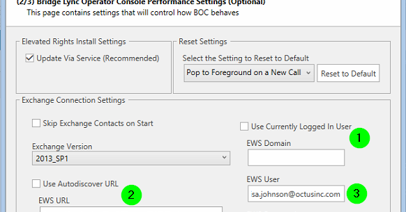 BOC Support: Configure BLOC for Exchange on o365