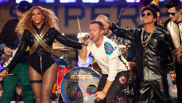 Coldplay, Bruno Mars and Beyonce rocks the 2016 Super Bowl half-time show.