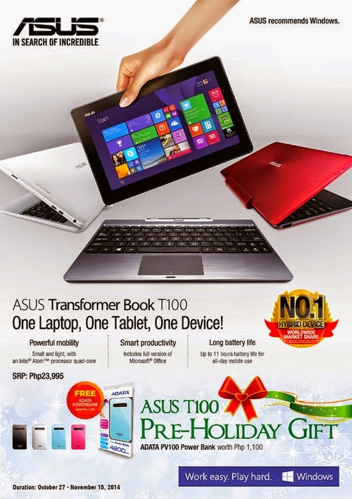 ASUS Transformer Book T100 Pre-Holiday Gift