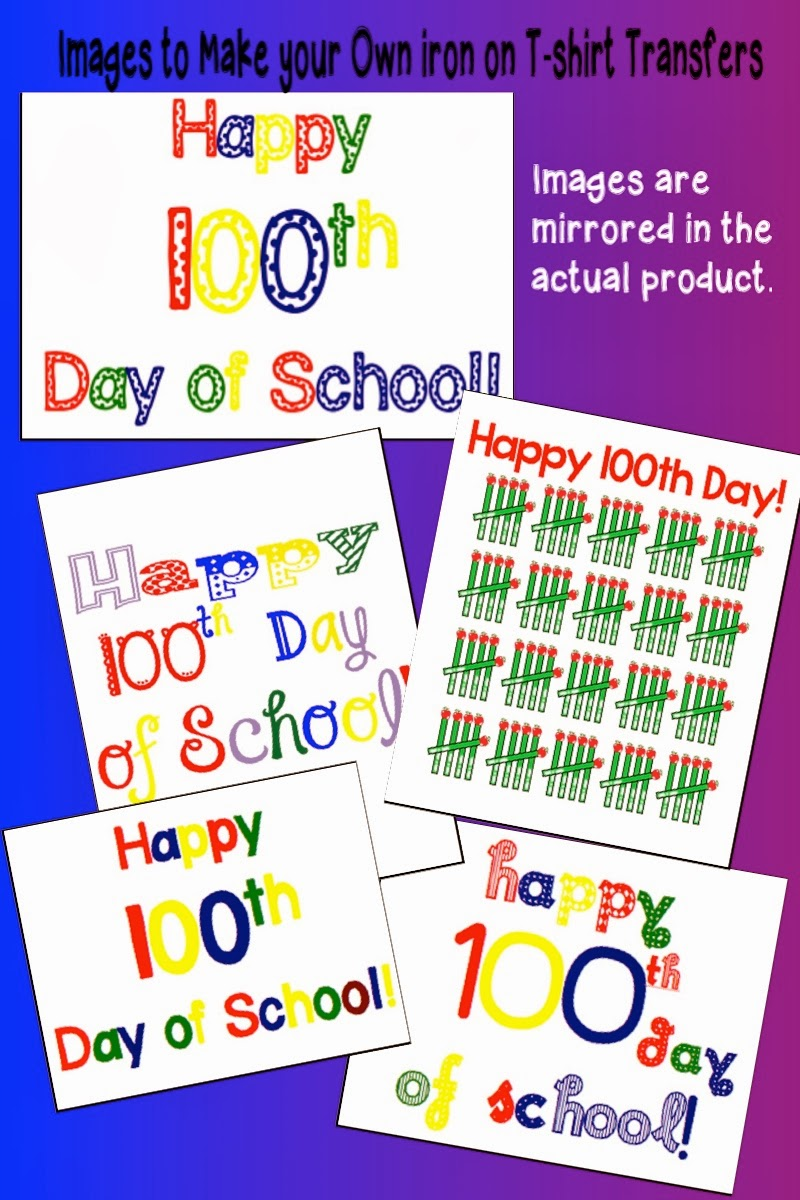 100th day t-shirt transfers- make your own at home
