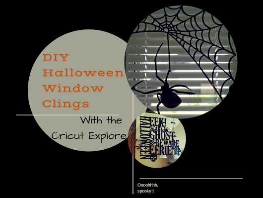Spookifying with Cricut Window Clings