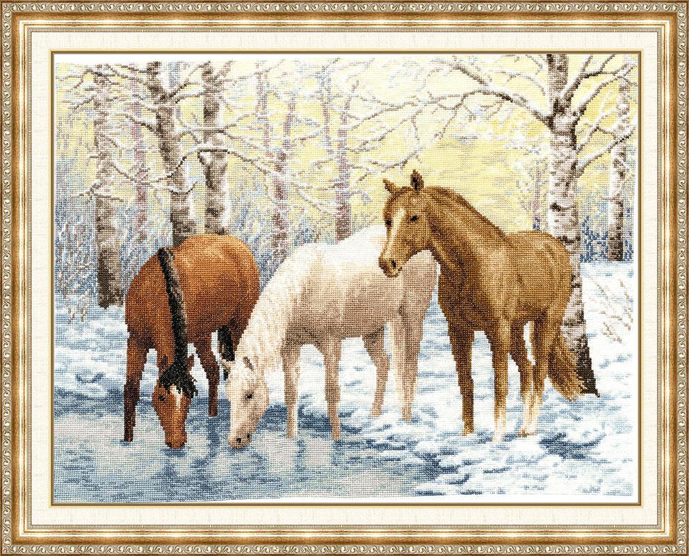 Схема вышивки крестом черной лошади фото 393