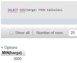 Kalkulasi Data dengan SQL
