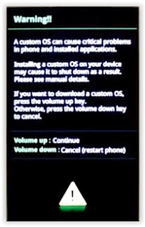 warning - download mode samsung galaxy s3