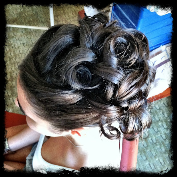 fire monkey hair design updo