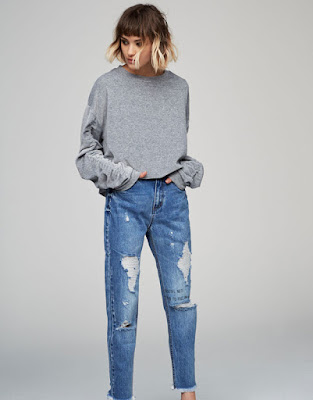 Sweat manches froncées - Pull&bear