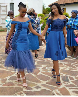 cotton indigo Fabrics made in South Africa by a company named Da Gama ✘ 29 Traditional African Shweshwe Dresses Styles For Women To Rock In