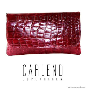 Crown Princess Mary carried Carlend Copenhagen Vanessa Red Clutch bag