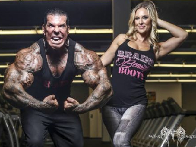 BRAINS BEAUTY BOOTY tank as worn by Rich Piana girlfriend