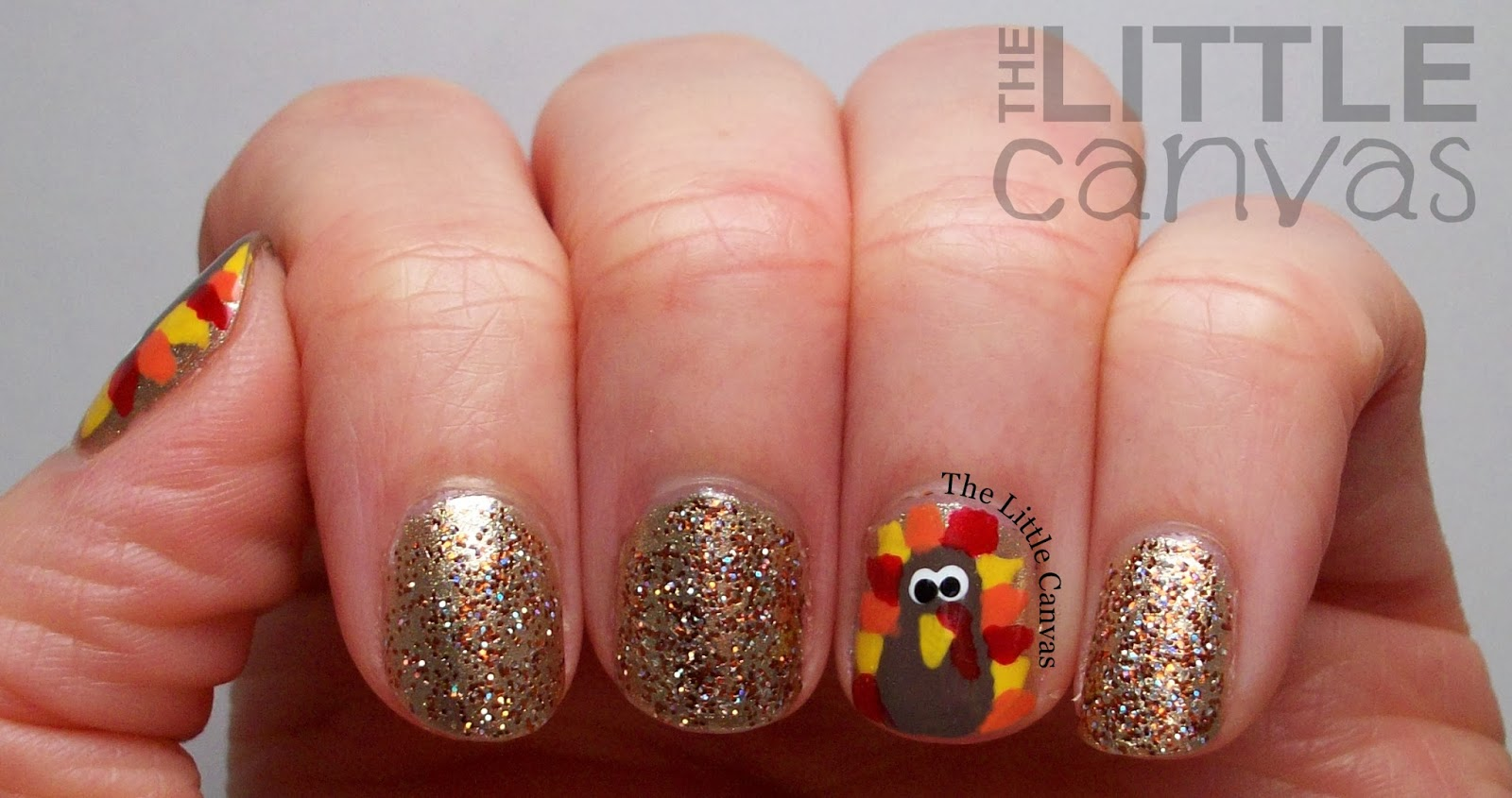 Happy Thanksgiving! Turkey Nails! - The Little Canvas