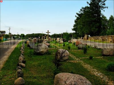 Рубежевичи. Карта парафии из камней