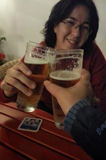 Tomando unas cervezas en Ettal