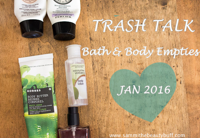Trash Talk: Bath & Body Empties (Jan 2016) - Sammi the Beauty Buff