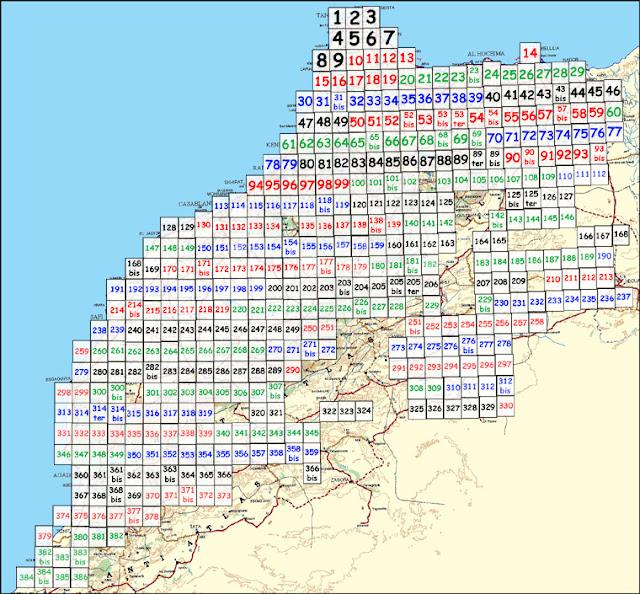 Cartes du maroc