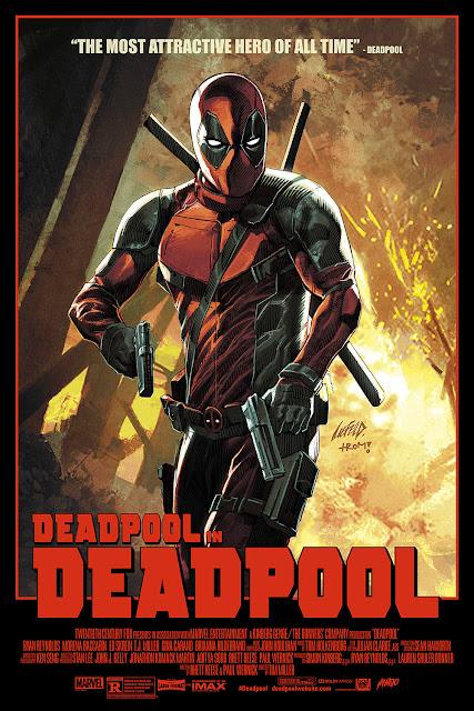 Deadpool Movie Poster Standard Edition Screen Print by Rob Liefeld & Mondo