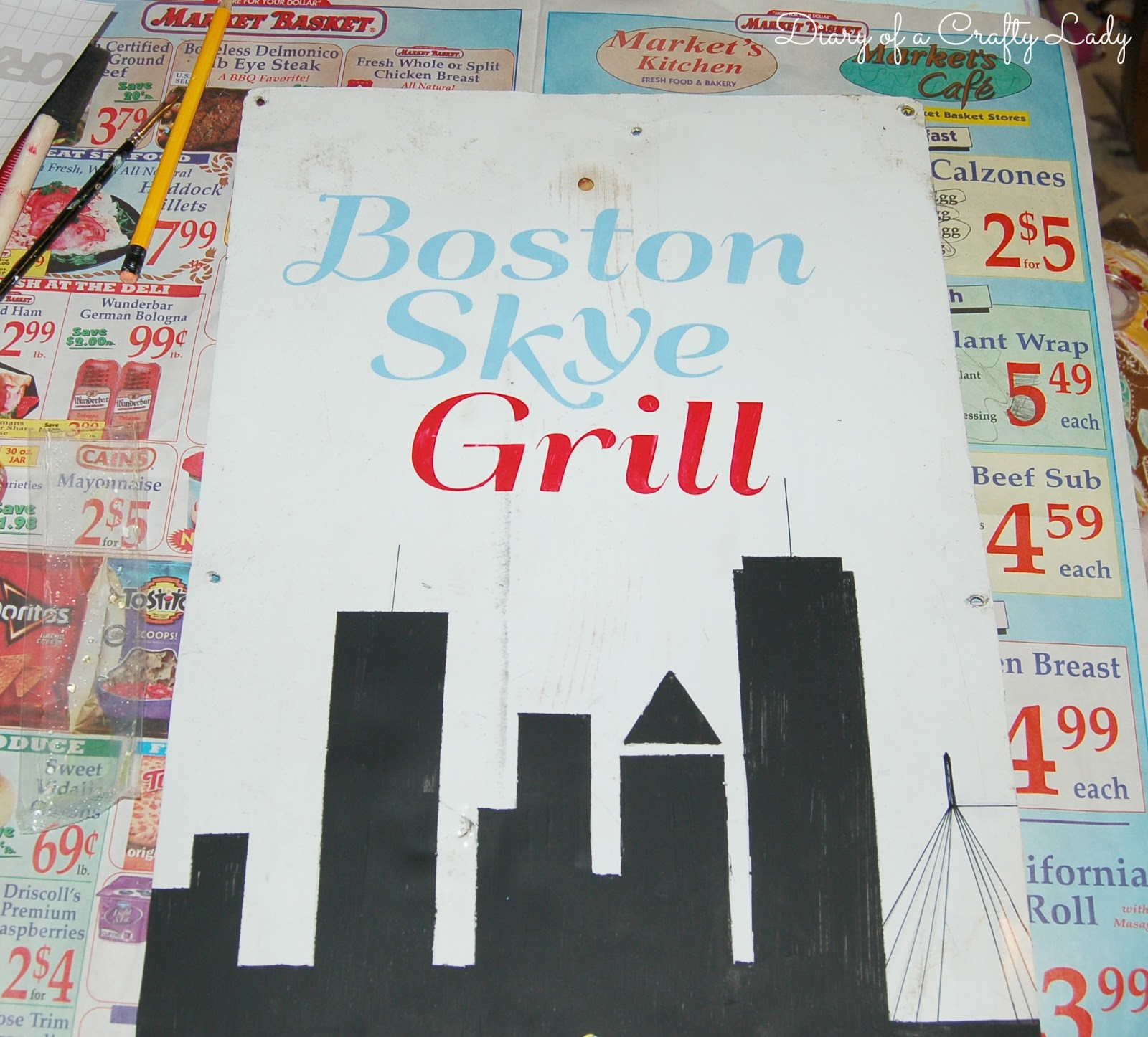 Diary of a Crafty Lady: Personalized Kitchen Sign from Old Metal MHP ...