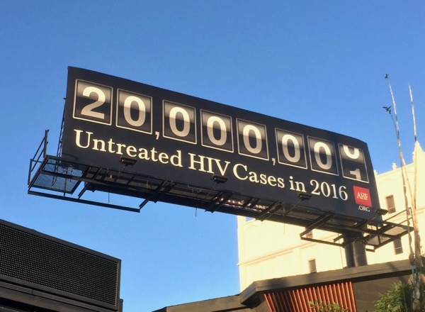 20m Untreated HIV 2016 AHF billboard