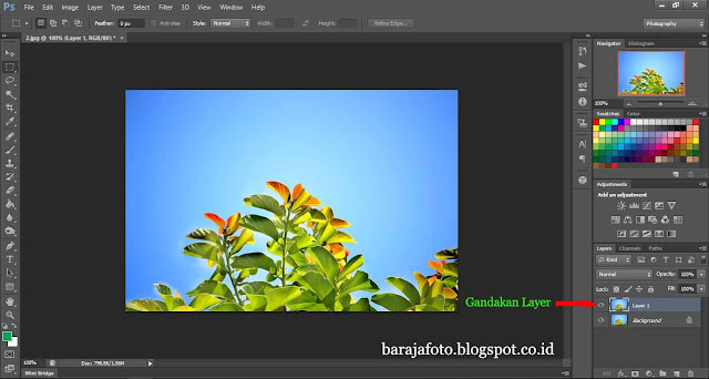 Duplikat layer photoshop