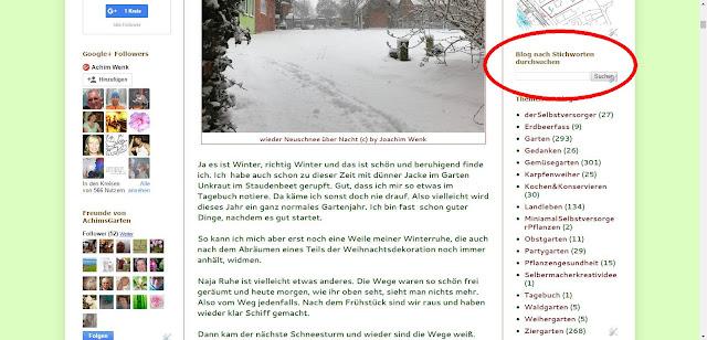 Stichwortsuche im Blog (c) by Joachim Wenk
