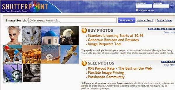 Como vender fotos pela internet - site Shutterpoint