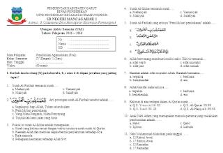 Unduh Soal UAS PAI Kelas 4 Semester 1