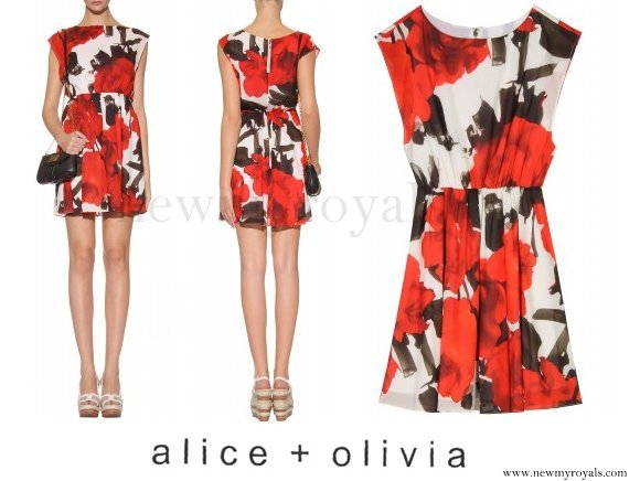 Princess Eugenie wore ALICE AND OLIVIA Saffron Floral Dress