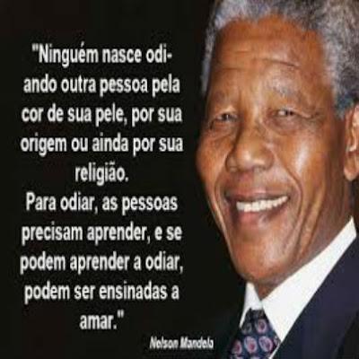 Foto com mensagem de Nelson Mandela