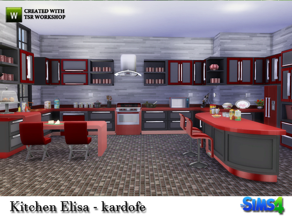 My sims 4 blog elisa kitchen set by kardofe for Kitchen set sims 4