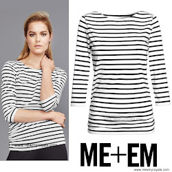Kete Middleton Style ME+EM Breton Top and ZARA Blazer
