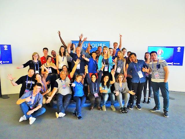 Photo de groupe de la team sustainability EURO 2016