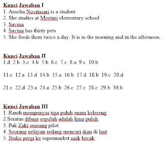 Kunci jawaban pts bahasa inggris kelas 5 sd semester 2 - https://bloggoeroe.blogspot.com/