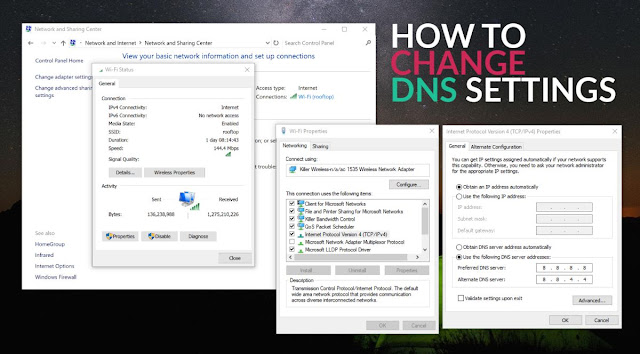 Αλλαγή DNS Server πρόσβαση σε μπλοκαρισμένες ιστοσελίδες